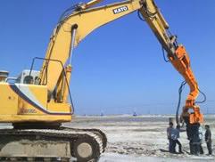 国外水泥桩施工